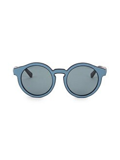 cd890e232a3 Loewe. 52MM Padded Leather Round Sunglasses