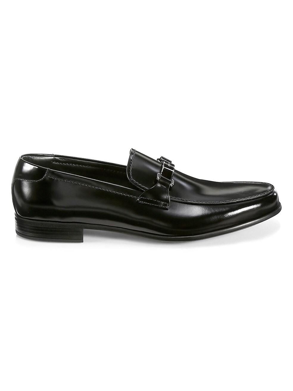 Prada Spazzalato Brushed Leather Loafers