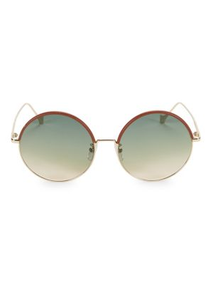 58 Mm Gradient Metal Round Sunglasses by Loewe