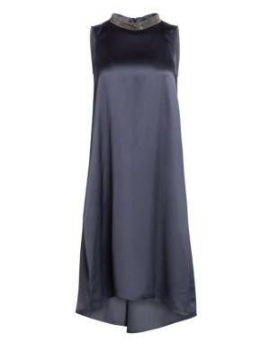 Fabiana Filippi Glitter Collar Shift Dress