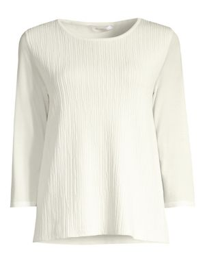 Astor Plisse Front Top in White