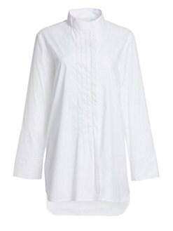 6b9d6547db8 QUICK VIEW. Fabiana Filippi. Metallic Trim Bib Tunic Shirt
