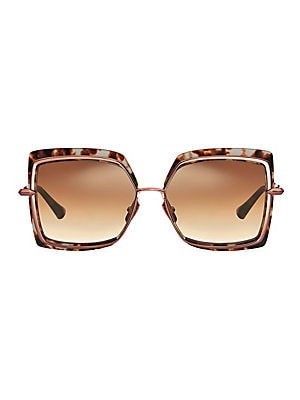 d06eef0cac3 DITA Eyewear Women s 58MM Narcissus Square Sunglasses - Cream Tortoise