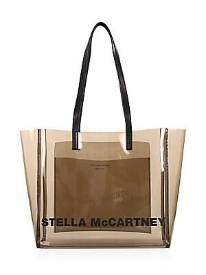 09f0fd4465d5 Stella McCartney - Falabella Faux Leather Monogrammed Dual Tote Bag ...