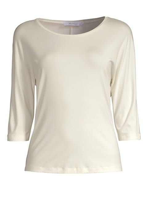 Three-Quarter Sleeve Boatneck Tee
