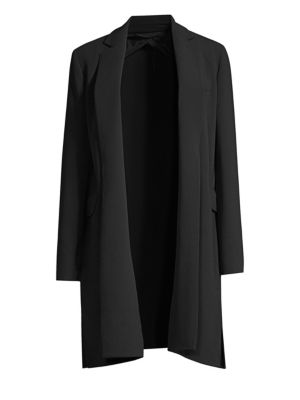 Max Mara Wools Fauna Stretch Wool Long Jacket