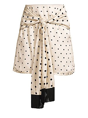 Polka Dot Scarf Wrap Skirt by Mother Of Pearl