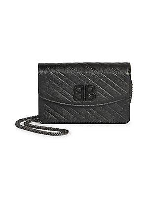 011313170a46 Saint Laurent - Small Monogram Mattelasse Leather Chain Wallet ...