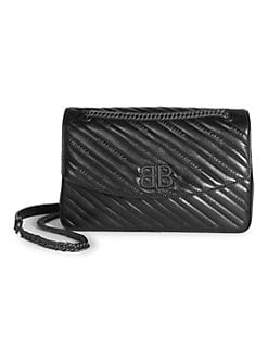 53c54780124 QUICK VIEW. Balenciaga. BB Leather Crossbody Bag
