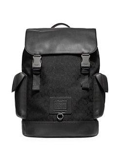 6eec4f46e905 COACH. Rivington Signature Logo Jacquard Backpack