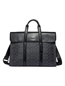 651c594121 Product image. QUICK VIEW. COACH. Metropolitan Signature Canvas Portfolio.   450.00 · Saffiano Leather Travel Briefcase BLACK