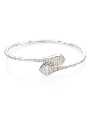MARLI Cleo X Marli 18K White Gold & Diamond Bangle