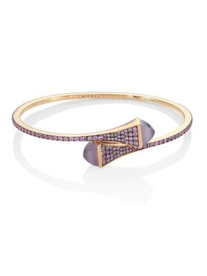 MARLI Cleo X Marli 18K Rose Gold & Sapphire Bangle Bracelet