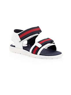 c9c1bb43cb65 Gucci. Kid s Gaufrette Leather Striped Sandals