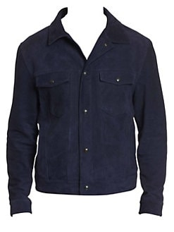 0b2f2426efe Robert Graham. Marko Suede Denim Jacket