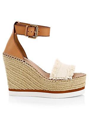 3ff69fcbc7c Chloé - Lauren Suede Ankle-Strap Espadrille Wedge Sandals - saks.com