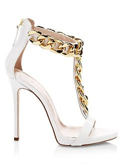 dfe50331297 Product image. QUICK VIEW. Giuseppe Zanotti. Giuseppe for Rita Ora Chain  Detail Ankle-Strap Sandals