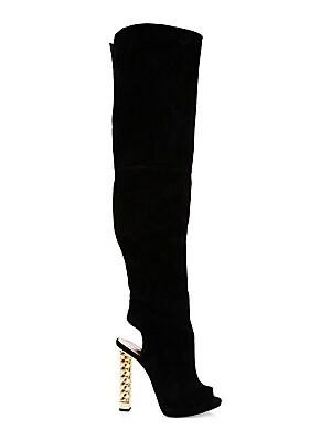 937e2d126894 Giuseppe Zanotti - Giuseppe for Rita Ora Suede Peep Toe Knee-High Boots -  saks.com
