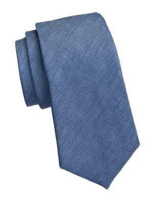 Emporio Armani Textured Solid Silk Tie