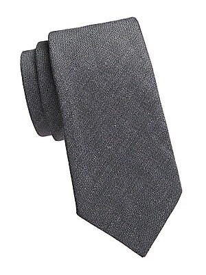 "Image of Woven jacquard tie is an opulent accessory. Silk Dry clean Made in Italy SIZE Width, 3"". Men Luxury Coll - Armani Neckwear. Emporio Armani. Color: Grey."