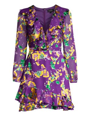 Jodie Silk Blend Floral Dress by Saloni
