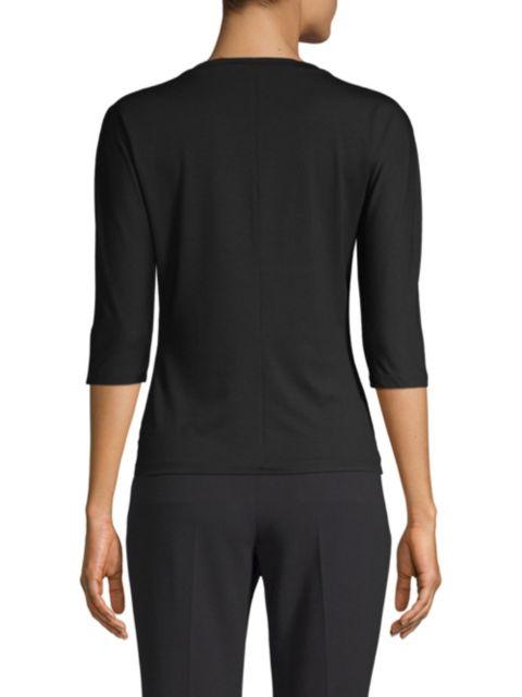 Max Mara Jersey Three-Quarter Sleeve Top | SaksFifthAvenue