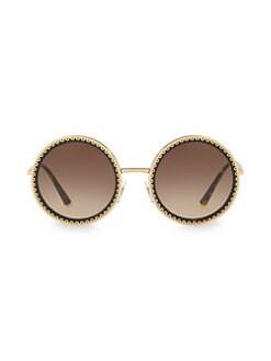 cdedf64527d QUICK VIEW. Dolce   Gabbana. 53MM Round Scallop Sunglasses