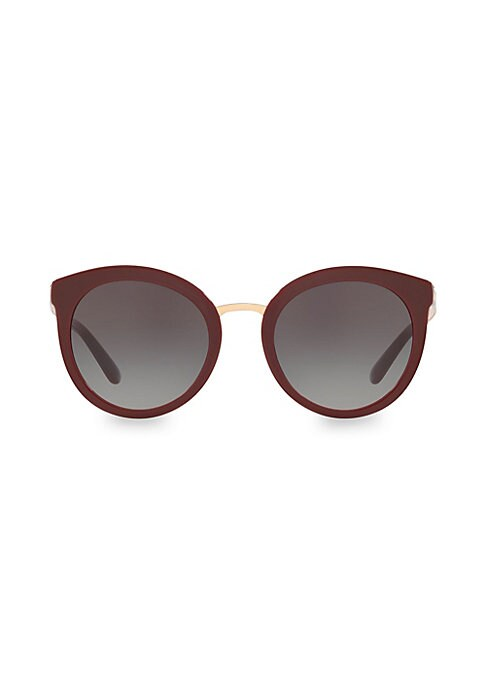 Image of Round sunglasses with minimal styling to complete your look. Gradient lenses. Acetate. Made in Italy. SIZE.52mm lens width.22mm bridge width.140mm temple length.
