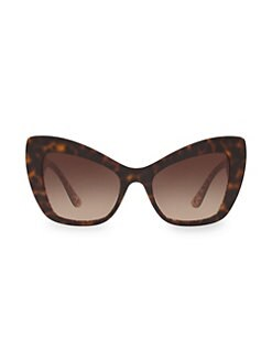2bd488e5071c Dolce & Gabbana. 54MM Cat Eye Baroque Sunglasses