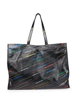 09fafcdd88e9 Balenciaga. Medium Leather Rainbow Logo Shopper