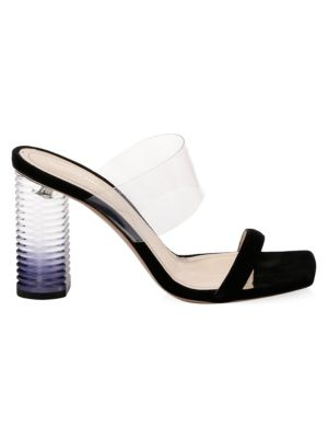NICHOLAS KIRKWOOD Peggy Family Leather & Translucent Mules in Black