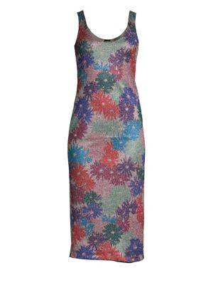 SPLENDID X MARGHERITA MISSONI Brillaire Metallic Floral Dress in Multi