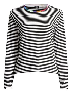 SPLENDID X MARGHERITA MISSONI Colore Striped Long Sleeve Tee in Banda