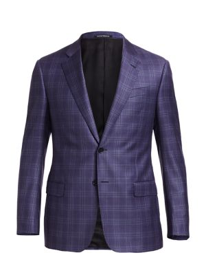 Emporio Armani Plaid G Line Wool Sport Coat