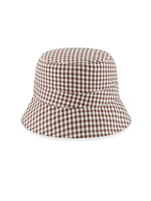 New Era Reversible Gingham Bucket Hat
