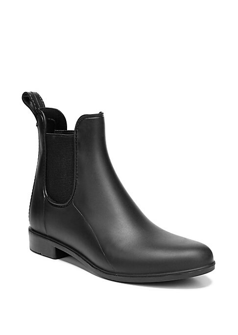 Image of .Rubber rainboots in an ankle silhouette. .Rubber upper. .Round toe. .Synthetic lining and sole. .Imported. .