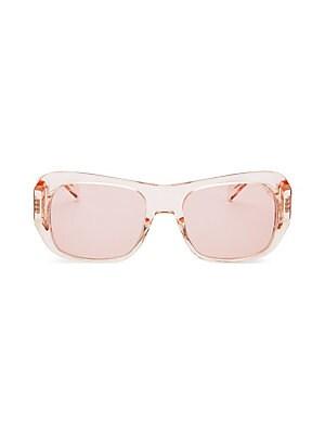 875867798f3 CELINE - Transparent 56MM Rectangular Sunglasses