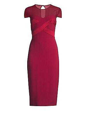 Bracco Sheer Cap Sleeve Sheath Dress by Max Mara