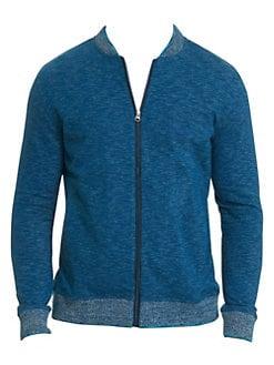 703b9403f446 Robert Graham. Kaison Cotton Slub Zip-Front Knit
