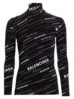 345609e91312b0 QUICK VIEW. Balenciaga. Turtleneck Jersey Logo Top