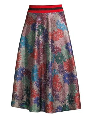 SPLENDID X MARGHERITA MISSONI Brillaire Metallic Floral Skirt in Multi