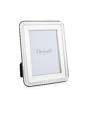 "Image of Display life's most memorable moments in this elegantly detailed silver-plated picture frame. Silver plated Made in Italy SIZE 3"" W x 5"" H. Gifts - Tabletop. Christofle. Size: 3 x 5."