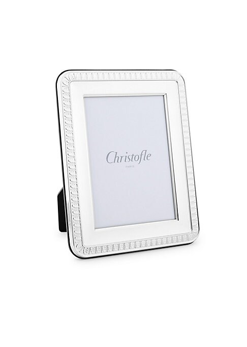 """Image of Display life's most memorable moments in this elegantly detailed silver-plated picture frame. Silver plated. Made in Italy. SIZE. 3"""" W x 5"""" H."""
