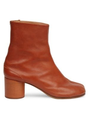 Tabby Mid Heel Leather Boots by Maison Margiela