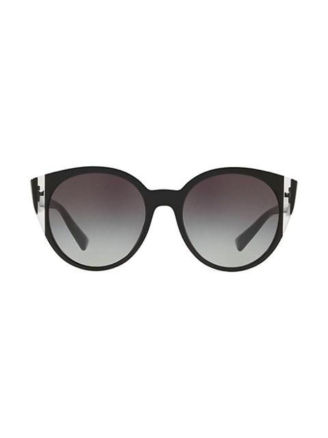 VA4038 Grad Blue 55MM Round Sunglasses