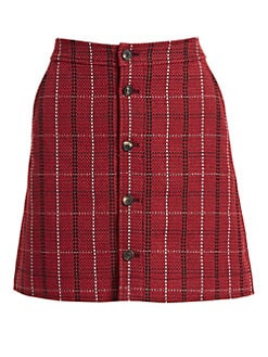6eac19cd4 Product image. QUICK VIEW. McQ Alexander McQueen. Plaid Mini Skirt