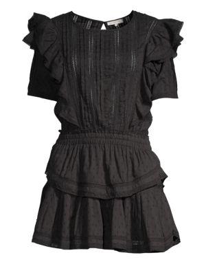 Natasha Ruffled Popover Mini Dress by Love Shack Fancy