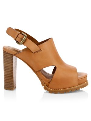 Brooke Leather Platform Sandals by See By Chloé