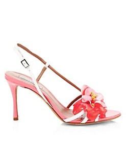 549414a1ef2 QUICK VIEW. Tabitha Simmons. Peony Appliqué Slingback Sandals