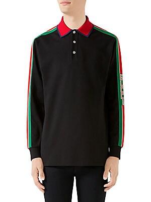 c5a1d70c988af Gucci - Stonewashed Stripe Cotton Polo Shirt - saks.com